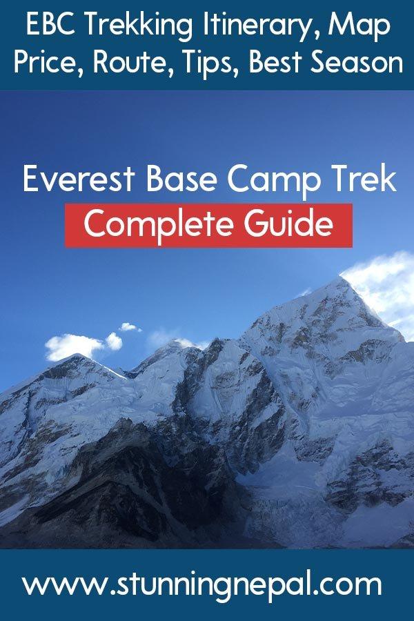 Everest Base Camp Trekking Complete Guide Pinterest