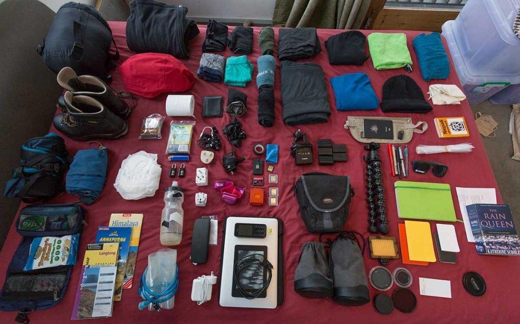 Langtang Valley Trek Gear and Equipments