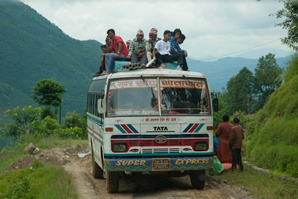 Public Bus to Dhunche, Langtang
