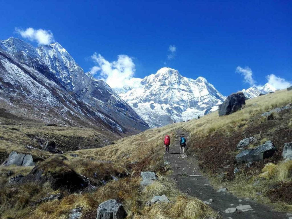 People trekking to ABC