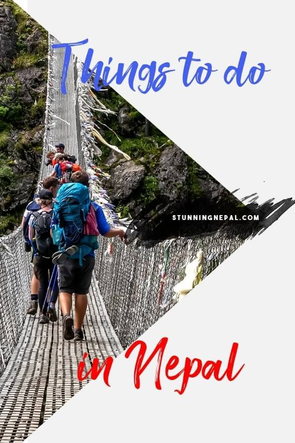 Things to do in Nepal Pinterest Pin