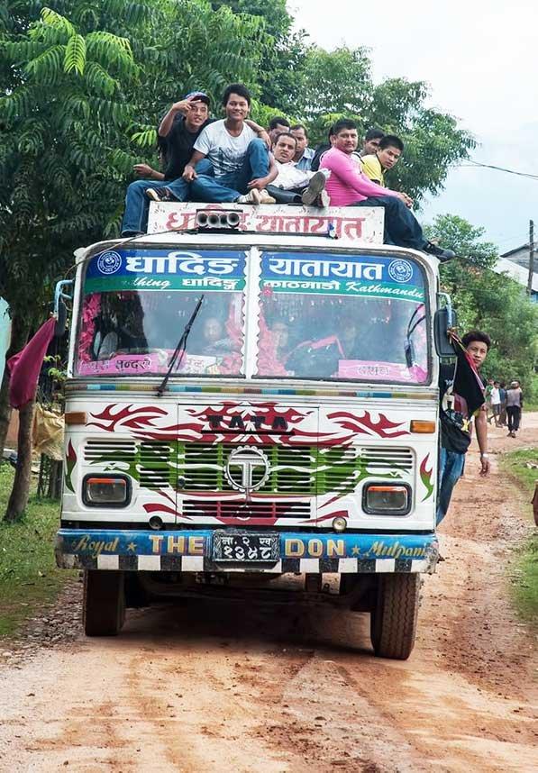 Manaslu Public Bus to Arughat